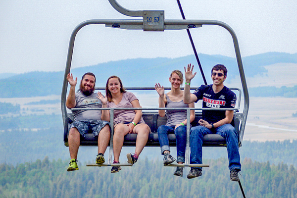 Riders on Scenic Lift Ride