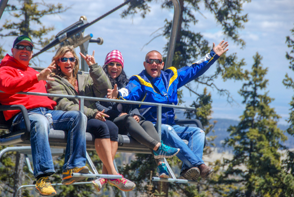 Riders at Scenic Lift Ride